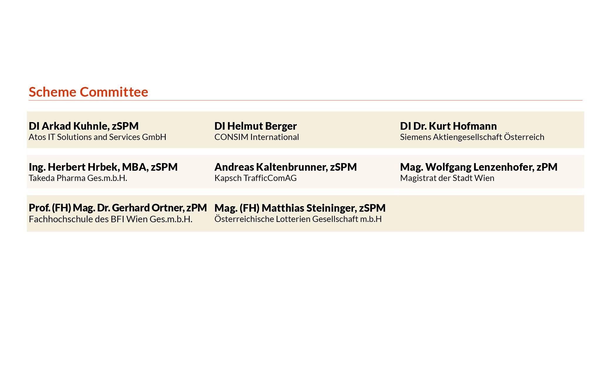 pma Scheme Committee